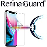 RetinaGuard Anti-Blue Light Tempered Glass Screen Protector for iPhone Xs/iPhone X (Transparent) - SGS & Intertek Tested - Blocks Excessive Harmful Blue Light, Reduce Eye Fatigue and Eye Strain