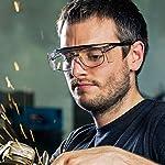 NoCry Over-Spec Lunettes de sécurité avec verres rayures enveloppante, avec certification ANSI Z87et OSHA et branches réglables et protection contre les rayons UV 400, Noir et Orange 12