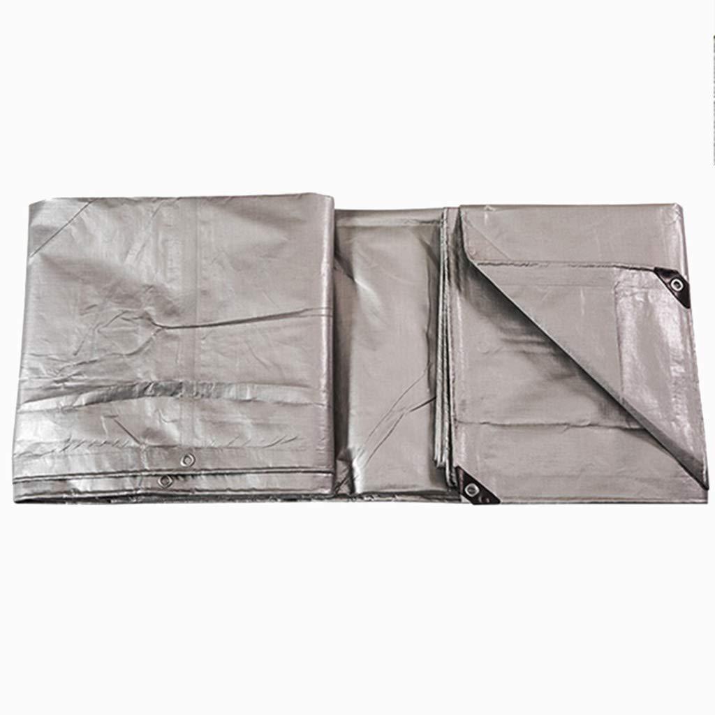 Zeltplanen Verdicken Sie Plane-regendichte Tuch-Plane-Plastikstoff-Lichtschutz-Sonnenschutz-Auto-Farbstreifen-Silber 6  10M -  Multi-Größe-Optionen (größe   3  - 4M) 76b09d