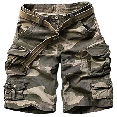 Juanshi Fathers Day Loose Fit Cargo Short Color Camo