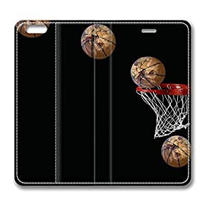 Basketball Going in Basket DIY Leather iphone 6 Case Perfect By Custom Service hjbrhga1544