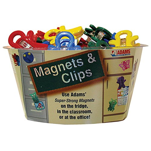 Adams 3303-50-3848 Magnet Man Clip, Assorted Colors (Adams Plastic Clips)
