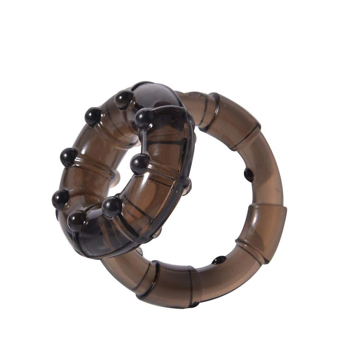 Trada_Anello di blocco vibratore prostata/Giocattoli maschii del sesso di cockring della serratura dell'anello della barella della palla dell'anello della palla dell'anello Rosso)