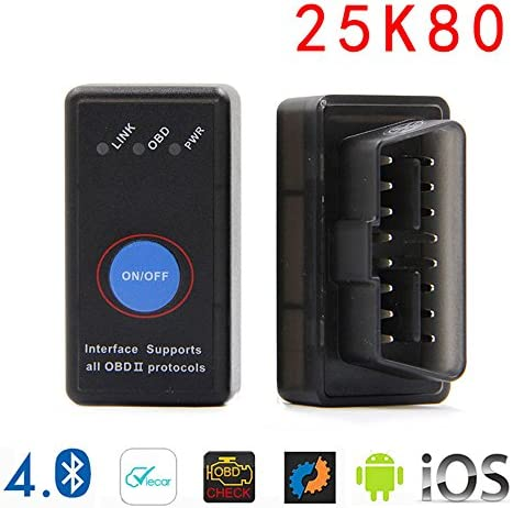 GLLC Elm327 WiFi OBDII Interface Adapter With Switch OBD2 Code Reader Wireless Diagnostic Tool with Original 25k80 Chip Support IOS//Android