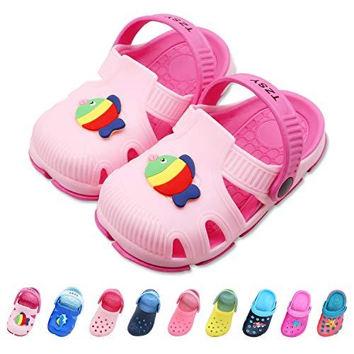 Namektch Toddler Little Kids Clogs Slippers Sandals, Non-Slip Girls Boys Slide Lightweight Garden Slip-on Shoes Beach Pool Shower Slippers (8.5-9 M US Toddler, - Sandals Fish Beach