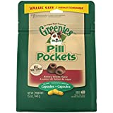 Greenies Pill Pockets Capsule Size Dog Treats Hickory Smoke Flavor, 15.8 oz. Value Pack (60 Treats)