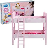 Svan Wooden Doll Bunk Bed and Bedding (fits American Girl Dolls and Other 18'' Dolls)
