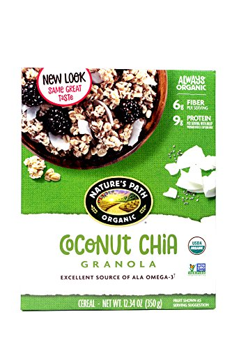 Natures Path Organic Chia Plus Coconut Chia Granola Cereal (Pack of 2,12.34-Ounce