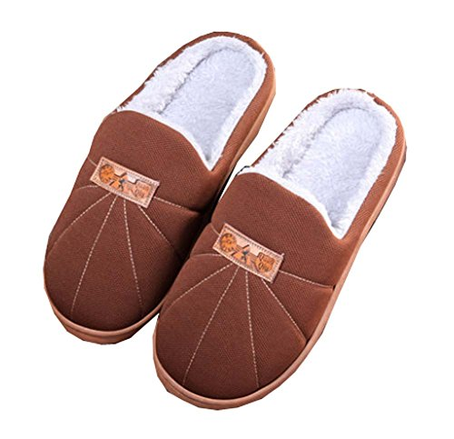 Non Brown Slippers Plush Men's Cozy Winter Disposable slip Recyclable Soft HFq4tf