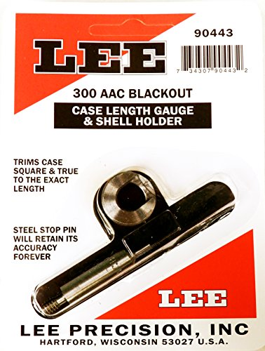 - Lee Precision Reloading Gauge/Holder 300 AAC Blackout Lee Precision Gauge/Holder 300 AAC Blackout, Silver, Small