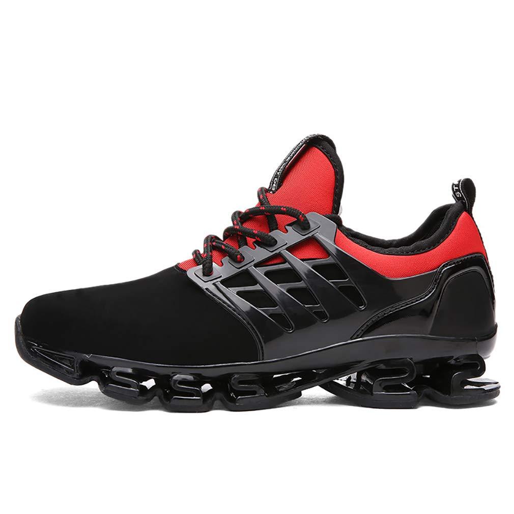 YAN Unisex Schuhe Niedrig-Top Turnschuhe Frühling Herbst Lace-up Casual Schuhe Trekking Wanderschuhe Outdoor-Sport-Turnschuhe (Farbe : Rot, Größe : 43)