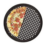 Fox Run 4491 Pizza Crisper Pan, Carbon Steel, Non-Stick