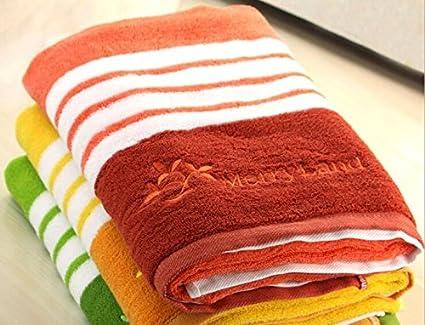 Toalla de baño de algodón hilo teñido Rayas toalla de baño (aumento toallas de algodón