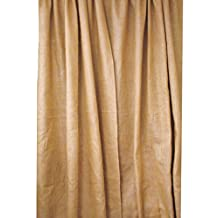 LA Linen™ Burlap Window Curtain Panel, 58-Inch Wide x 63-Inch High, Pack-1, Natural Color.