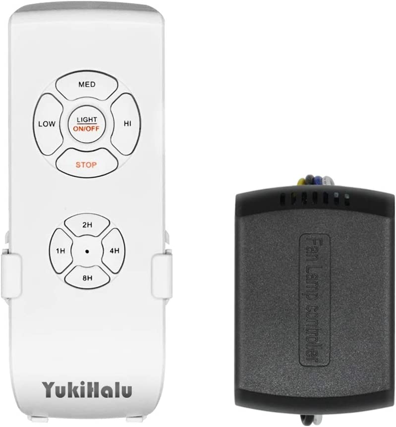 Yukihalu Small Size Universal Ceiling Fan Remote Control Kit Etl Fcc Listed Beep On Off Setting Wireless Remote Controls With Timing Amazon Com