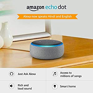Echo Dot (3rd Gen) - New and improved smart speaker with Alexa (Grey)