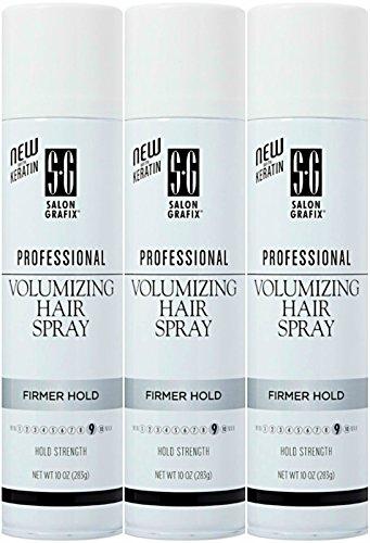 Salon Grafix Volumizing Hair Spray Firmer - 3PC