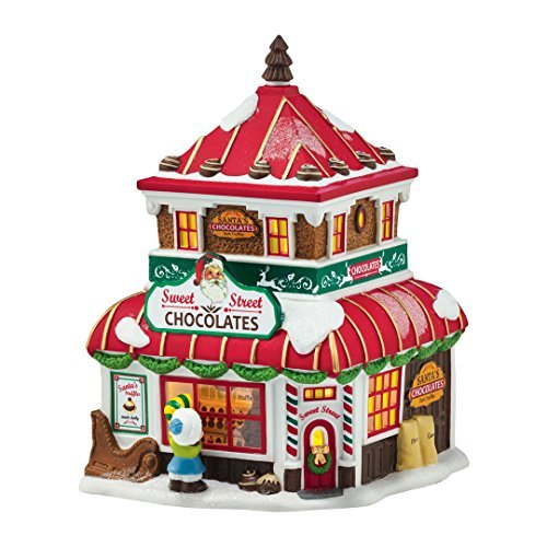 Department 56 by Enesco North Pole Village Christmas' Sweets Porcelain Lit House