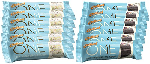 Oh Yeah! One Protein Bars Variety Packs erwve- Birthday Cake + Chocolate Birthday Cake - 12 Bars