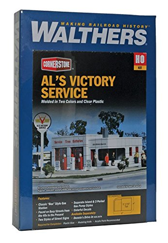 - Walthers Cornerstone Series Kit HO Scale Al's Victory Service Station