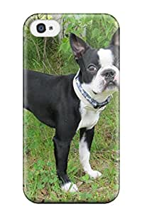 First-class Case Cover For Iphone 4/4s Dual Protection Cover Boston Terrier Dog