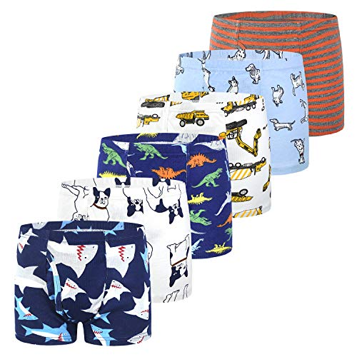 - slaixiu Soft Cotton Kids Underwear Cartoon Boys Boxer Briefs 6-Pack (UW75-No.10-150)
