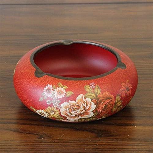 Luckya アメリカの牧歌的で素朴なラウンドセラミック灰皿灰皿セラミック装飾ヨーロッパの古い工芸品レトロ