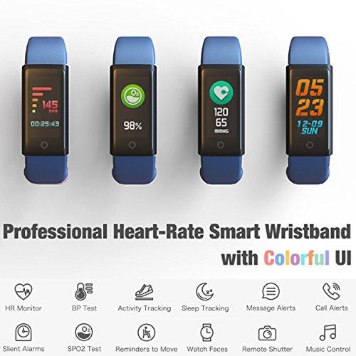 Indigi Color Screen Bluetooth Smart Bracelet Watch