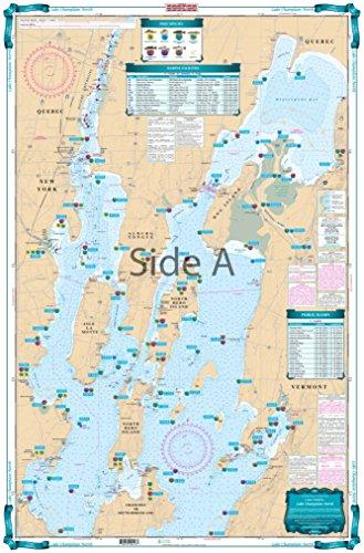 Waterproof Charts, Lake Fishing, 12F Lake Champlain North