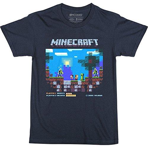 JINX Minecraft Vintage Brawler Boys' Tee Shirt, Navy, ()