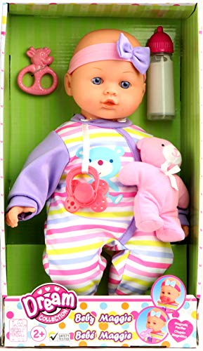 """DREAM COLLECTION 14"""" Baby Doll Maggie with Teddy"""