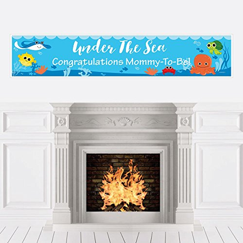 Big Dot of Happiness Under The Sea Critters - Baby Shower Decorations Party Banner ()
