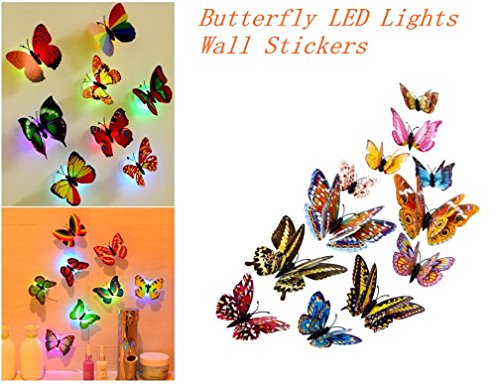 Butterfly Cluster - Coohole 12Pcs Vivid 3D Magnetic Butterfly Cluster Art Decal Wall Stickers Home Party Decor (12Pcs, Multicolor)