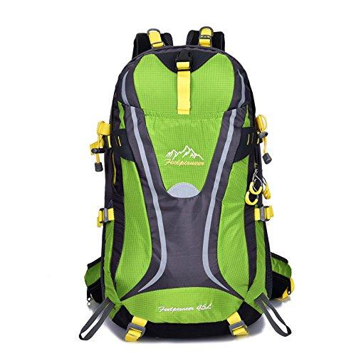45L Farbe Klettern Taschen Outdoor Camping Rucksack wandern Rucksäcke, grün fluoreszierende LJ0253