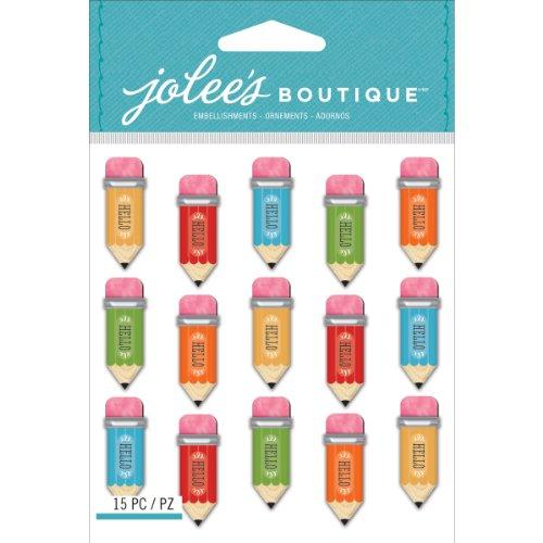 Jolee's Boutique Dimensional Stickers, Pencil Words (Dimensional Word Stickers)