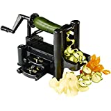 Create the Perfect Veggie Noodles with the 3-Blade Vegetable Spiralizer - Includes FREE Paperback CookBook of Julienne Recipes and a Lifetime Guarantee