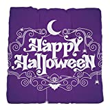 Tufted Chair Cushion Happy Halloween Bats and Spiders