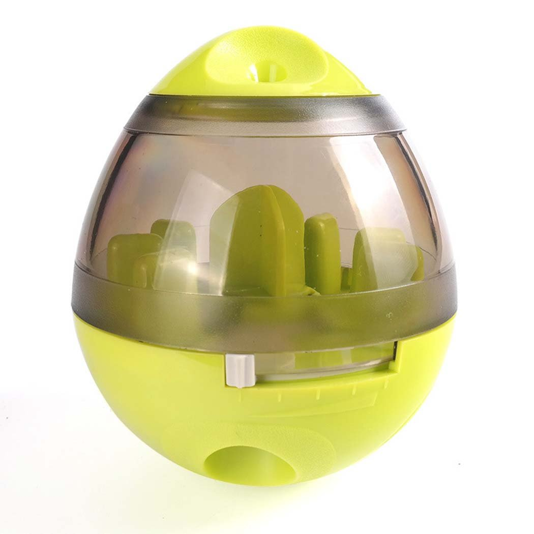 Green Dog Food Ball Toys, Tumbler Interactive Dog Toys Food Dispenser, Dog Bite Toys for Pet Puppy (color   Green)