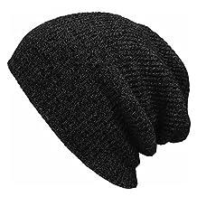 Chunlin Men's Women's Knit Baggy Beanie Winter Hat Ski Slouchy Chic Knitted Cap Skull