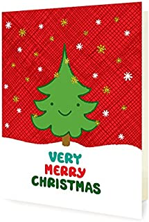 product image for Night Owl Paper Goods Happy Tree Foil Stamped Holiday Cards, 8 Pack