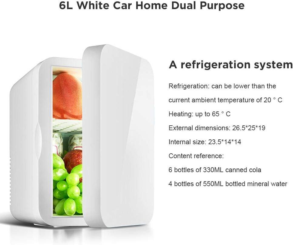 220V Refrigerador De Coche Autom/óvil//Uso Dom/éstico Fanclande Mini Refrigerador Nevera El/éctrica Fr/ía Y C/álida 6L 12V Mini Refrigerador M/óvil con AC//DC