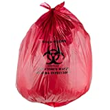 Red Infectious Waste High Density Isolation Medical Waste Bag / Biohazard Bag 17 Microns - 200/Case By TableTop King