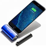 PhoneSuit [Apple MFi Certified] Flex XT Pocket Charger for Apple iPhone 7/7 Plus/6s/6s Plus/SE/5s/5/iPod External Battery Pack Works with Most iPhone Cases - Blue