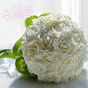 tomsong Artificial Rose Flower Bridal Bouquet Wedding Home Decoration Accessories 90