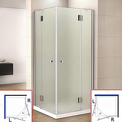 80 x 80 x 190 cm mampara de ducha de bisagra acceso de ángulo, 8 ...