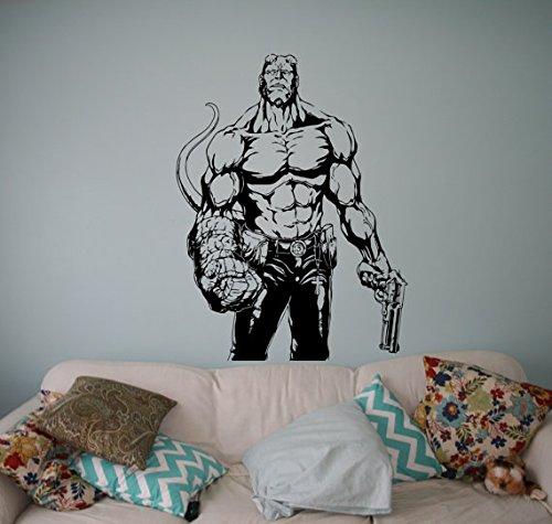 Hellboy Comic Vinyl Decal Superhero Wall Sticker Home Interior Movie Cartoon Wall Graphics Bedroom Decor 10(hlb)