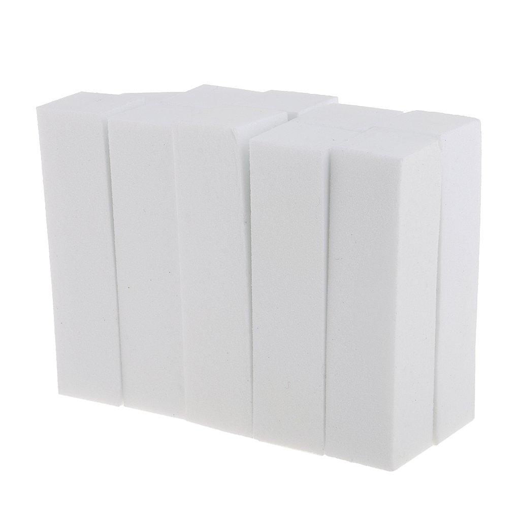 MagiDeal Profi Nagelfeile Maniküre Pediküre Nail Art Schwamm Polierfeile, 10pcs/Pack - Weiß 10pcs/Pack - Weiß