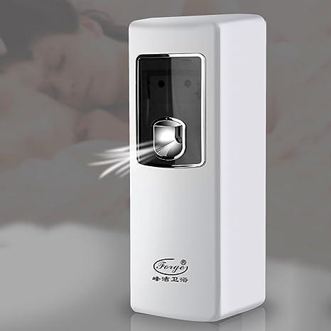SimpleLife Sensor de luz LED automático Aerosol Ambientador Digital Spray Dispensador Perfume Ehite White 8.7x9x24
