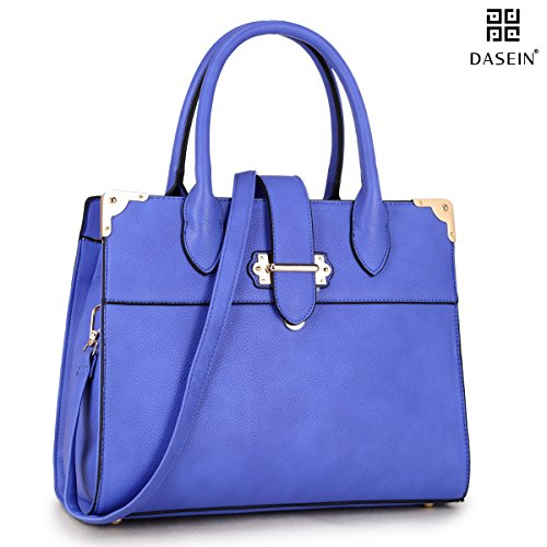 Leather Bag Shoulder Briefcase Tote Satchel Bag Purse Royal Bag Handle Top Handbag Blue DASEIN Faux Work Designer 6347 0Yfw8q8S