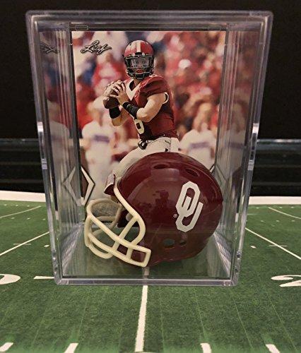 Oklahoma Sooners Collectibles - Oklahoma Sooners NCAA Helmet Shadowbox w/ Baker Mayfield card